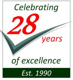 28 yearsn logo