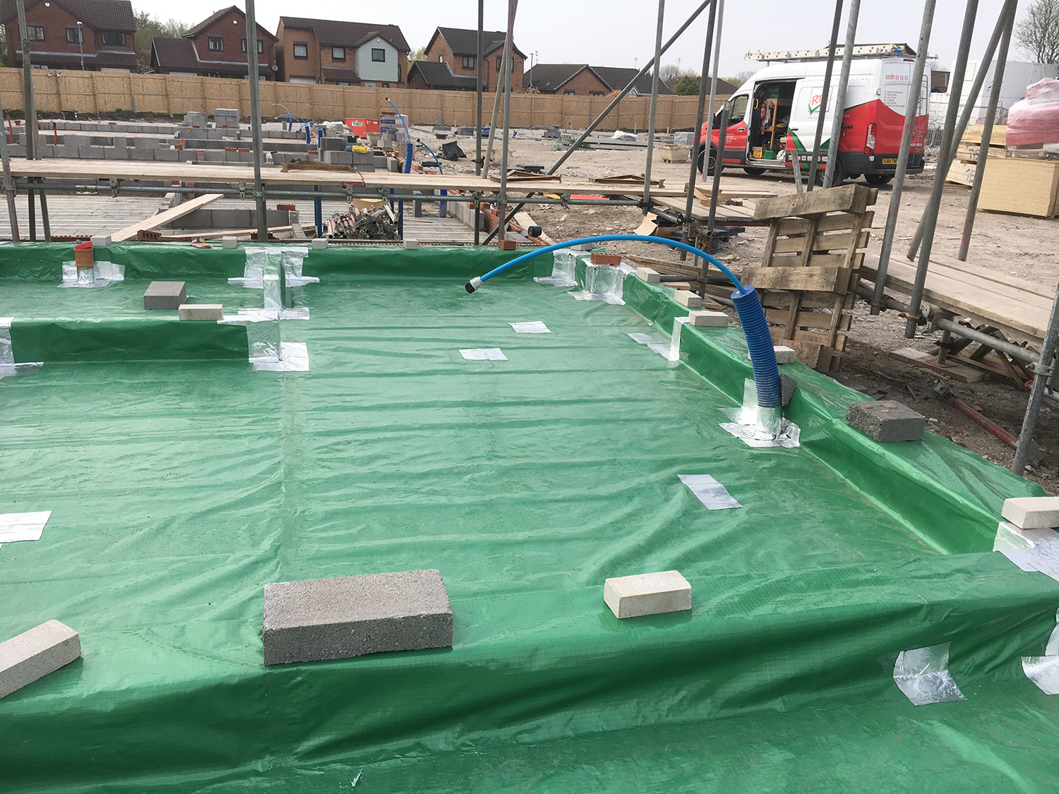 gas membrane installation